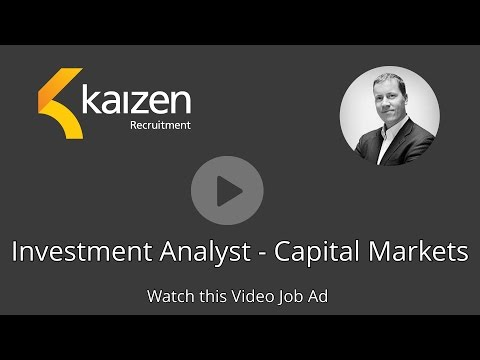 Investment Analyst - Capital Markets