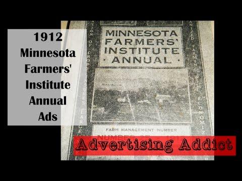 Minnesota Farmers' Institute Annual 1912 Advertising ~ Advertising Addict