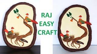 Best Room Decor Idea || DIY clay art and craft || raj easy craft #Diy wall hanging