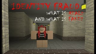 Roblox Identity Fraud | Part 1 | SCARED OF MY OWN REFLECTION!