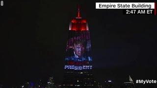 سي أن أن  تعرض صورة الرئيس ترامب على مبنى امباير ستيت