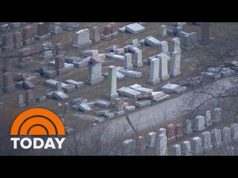 Historic Jewish Cemetery Vandalized Amid FBI Investigation Into Jewish Center Bomb Threats | TODAY