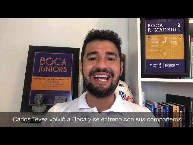 Boca Juniors: Carlos Tevez se reintegró a los entrenamientos en el club; El equipo ante Claypole.