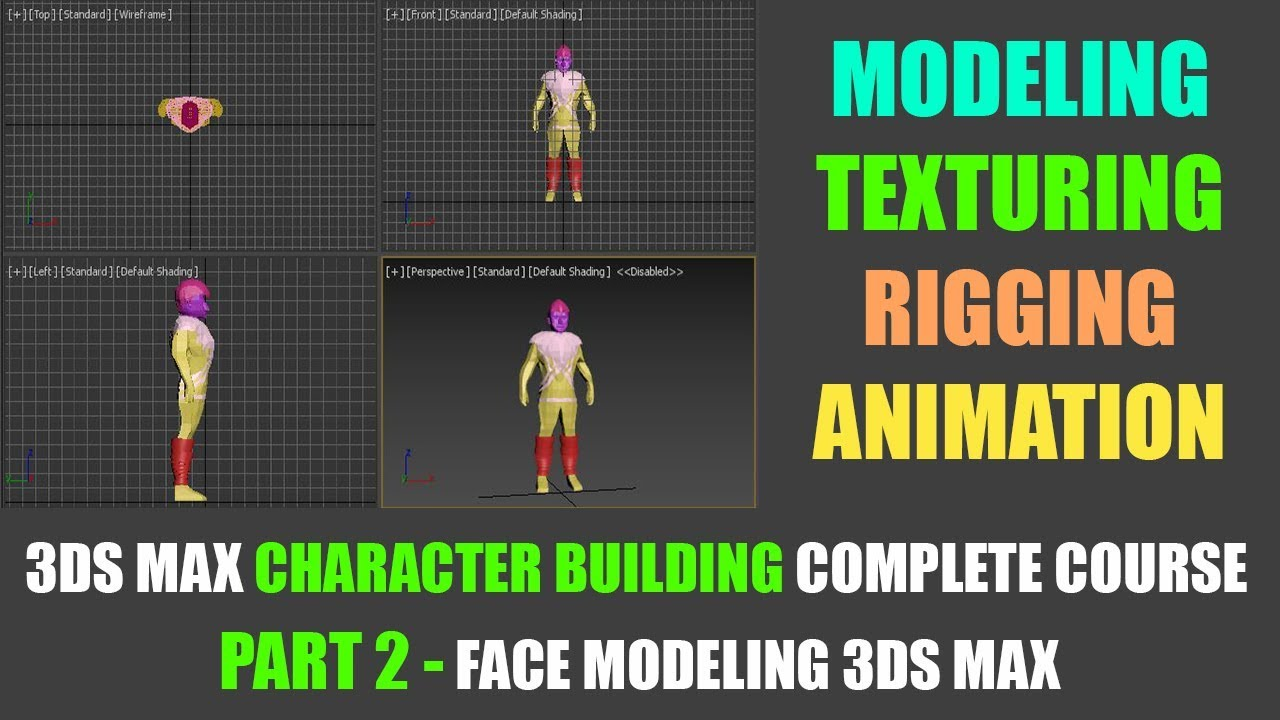 part 02 - Face Modeling in 3dsmax | Character modeling course 3dsmax