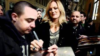 Malin Akerman signing autographs in person