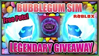 🍬Gum Sim Roblox Giveaway 🍬 Legendary Dominus + Free Shiny + Pets + Hats - Bubblegum Simulator