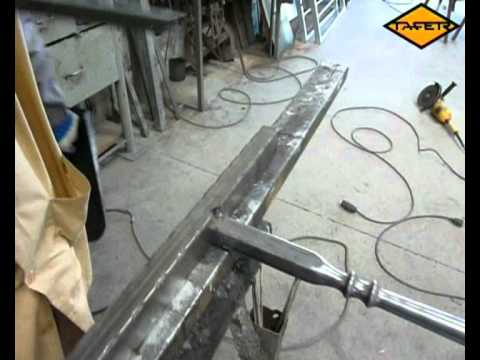 Como ensamblar las partes de una baranda con tubo - Baranda de forja ...