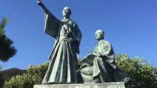 下田の海沿いにある吉田松陰の銅像です。 20年ほど前、静岡の谷川石材...