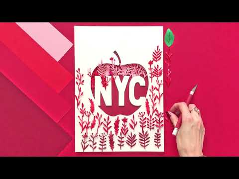 Making of paper NYC art   Time lapse   Margaret Scrinkl