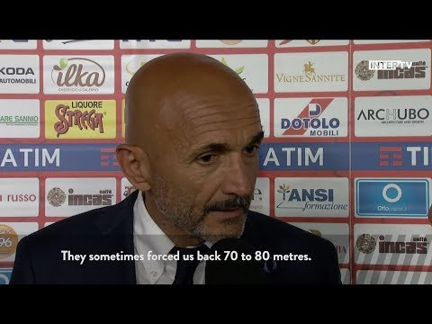 Benevento 1-2 Inter, post match reaction from Luciano Spalletti