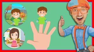 The Blippi Finger Family Song - Songs for Children