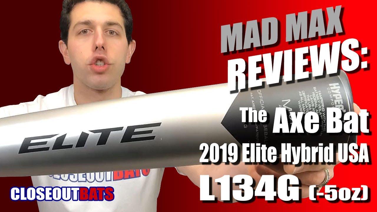 Closeoutbats com Axe Elite Hybrid 2 5 8 Big Barrel USA Bat L134G -5oz 2019