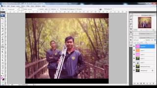 membuat efek cahaya vintage pada fotografi - Tutorial Photoshop