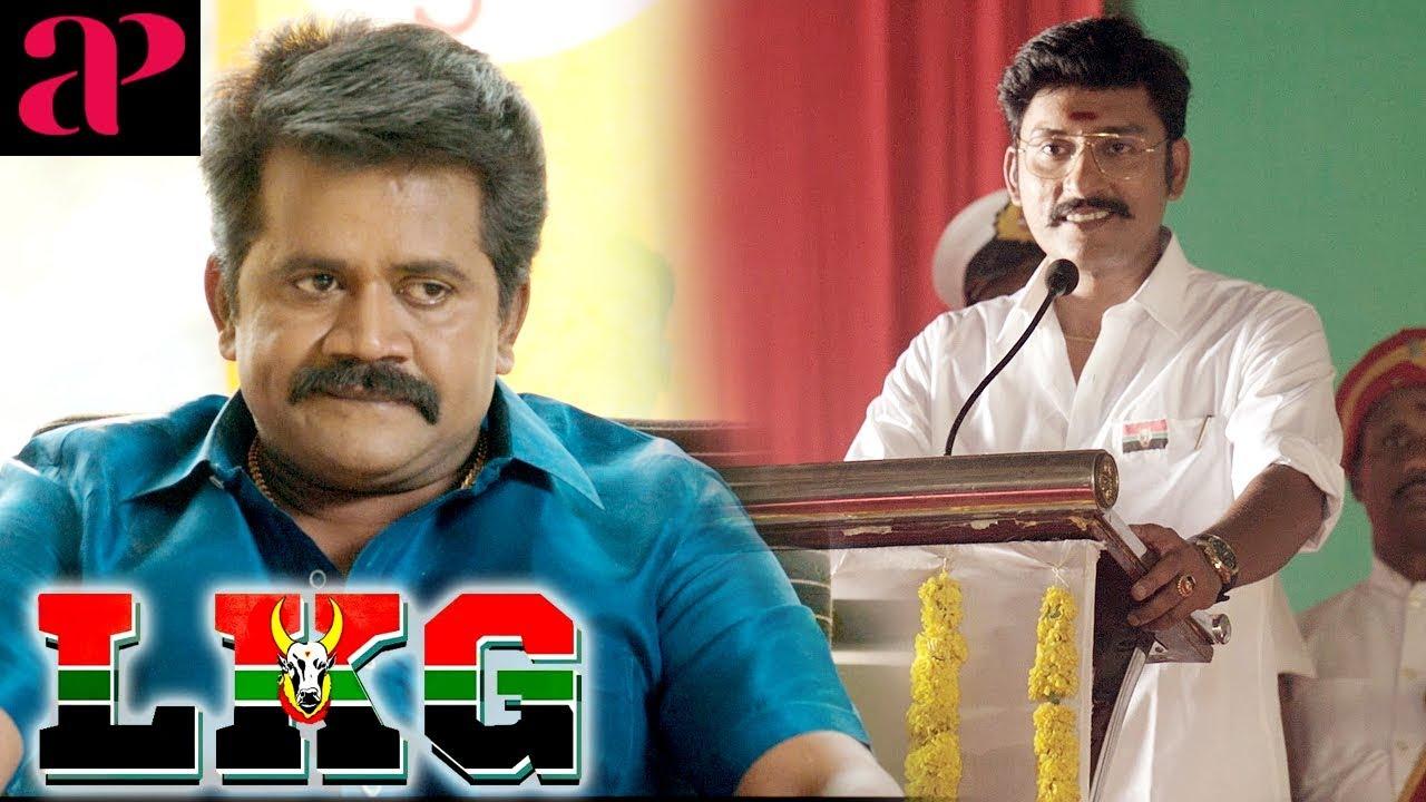 RJ Balaji wins the election | LKG Tamil Movie Scenes | RJ Balaji shot | JK Rithesh