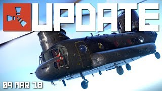 CH-47 Chinook now spawnable | Rust update 9th March 2018 thumbnail