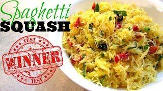 Spaghetti Squash Pasta Salad - Speedy Cooking Videos - PoorMansGourmet