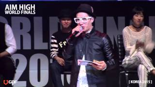 AIM HIGH KOREA 2015 / Round of 16 - Street battle 2 / Waackxxxy vs Locking Hao