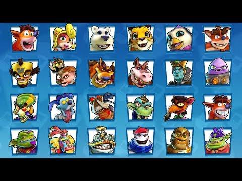 Crash Team Racing Nitro Fueled - All Characters