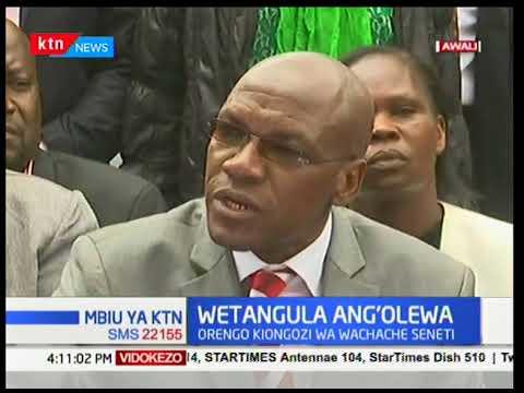 Moses Wetangula ang'olewa kwenye kiti chake cha kiongozi wa wachanche katika bunge la seneti
