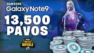 GET 13,500 *FREE* PAVOS with NOTE 9 FORTNITE: Battle Royal GHOSTCRX