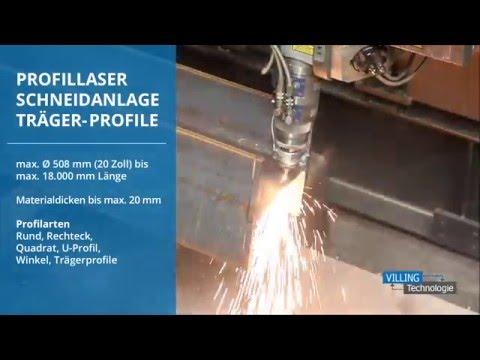 VILLING Technologie - Profillaser Schneidanlage - Träger-Profile - Laser Clip