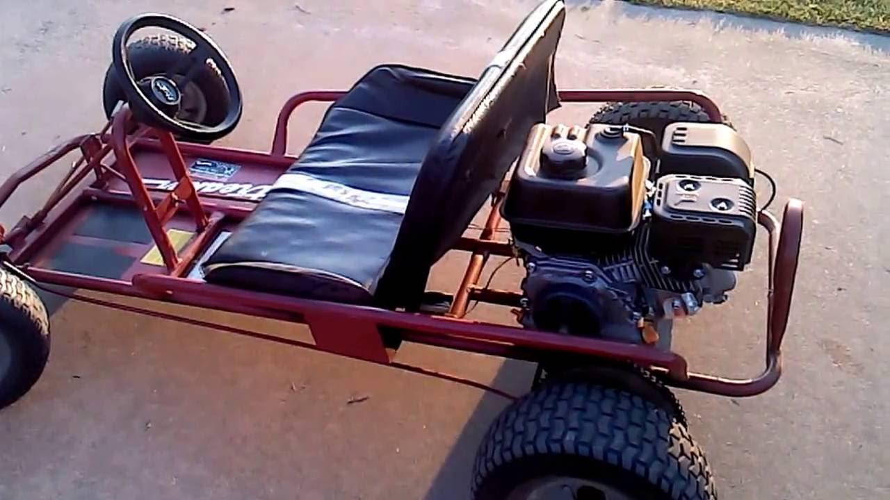 2 seater streaker go kart 6 5 predator on the road