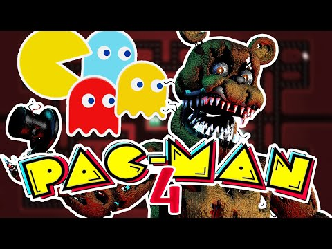 I PLAYED PACMAN AGAINST THE NIGHTMARE ANIMATRONICS | Five Nights At Freddy's PACMAN 4 - Part 3