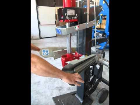 Spaccalegna Verticale Idraulico Con Pompa A Doppia Velocità Youtube