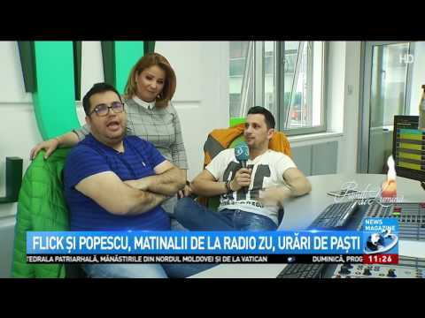 MESAJE DE PAȘTE. Flick și Popescu, matinalii de la Radio ZU, urări de Paște