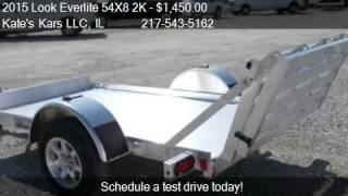2015 look everlite 54x8 2k aluminum utility trailer for sale