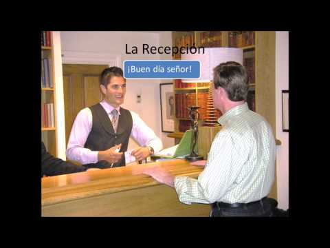 Spanish for travelers, check into a hotel