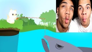 RIESEN HAI GEANGELT !!! | Cat Goes Fishing | PrankBrosGames
