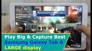 Samsung Galaxy Tab A SM-T580 Gaming & Camera Review with Snaps & Video | Gameplay