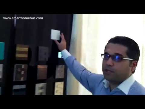 Motorized Curtains in Persian (Farsi) by Smart-BUS G4 Home Automation