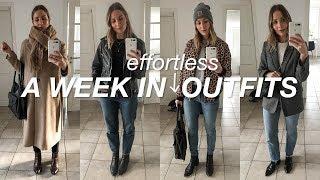 A week in effortless outfits | Winter capsule wardrobe