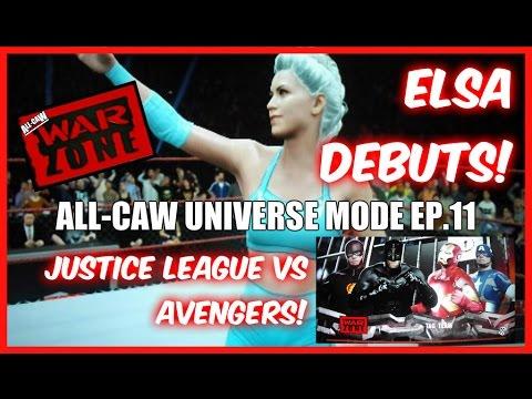 Frozen Elsa vs Spider-Woman, Justice League vs Avengers | All-CAW Universe Mode | #11