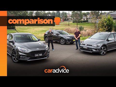 Volkswagen Golf Alltrack v Ford Focus Active v Subaru XV comparison   Best small SUV crossover