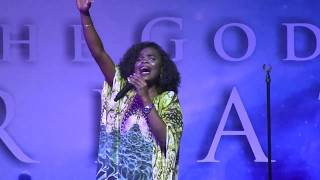 Victoria Orenze Worships at Gods Favourite House. Lagos