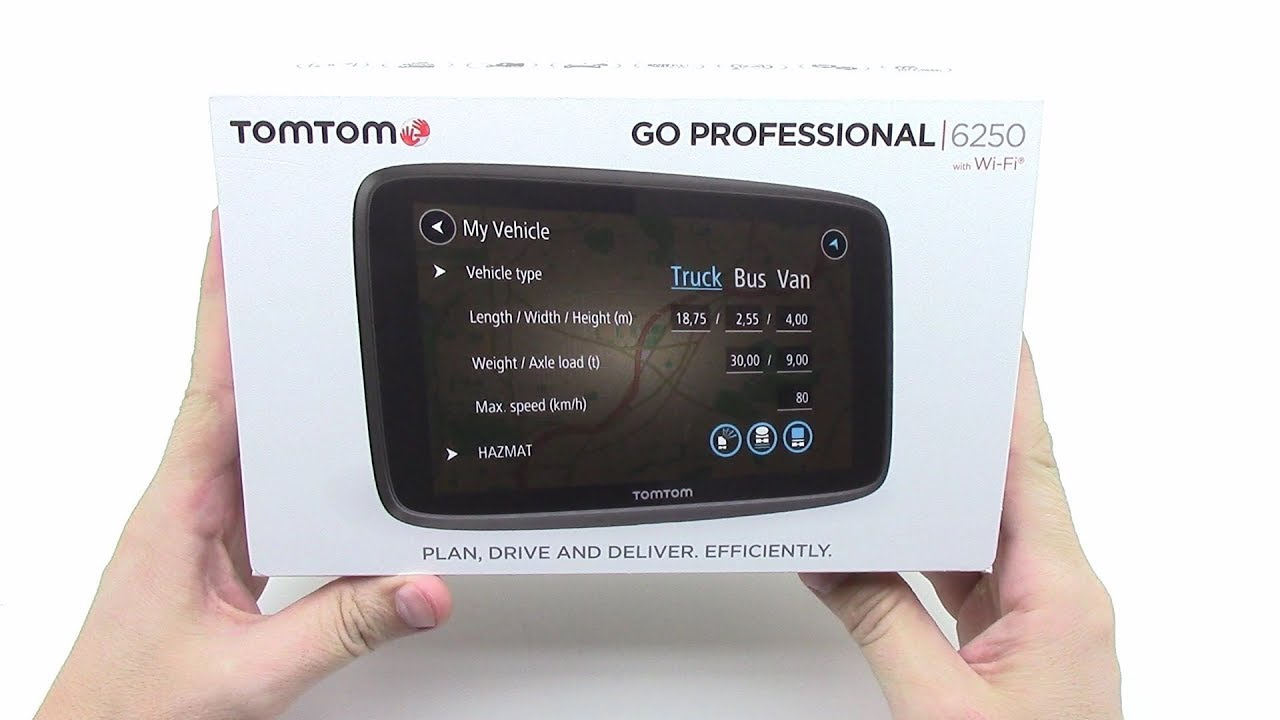 tomtom go professional 6250 lm unboxing hd youtube. Black Bedroom Furniture Sets. Home Design Ideas