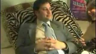 Zach Galifianakis, Jimmy Kimmel at a party stoned high