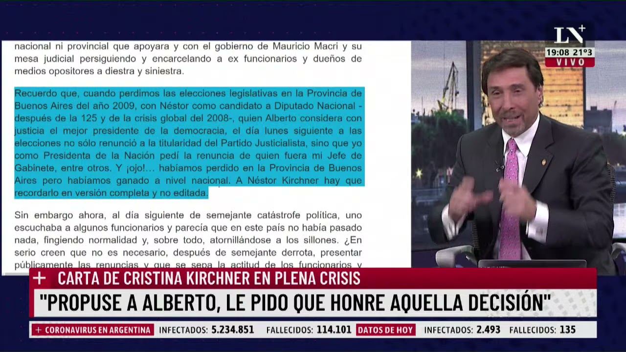 Download Feinmann analizó la explosiva carta de Cristina Kirchner