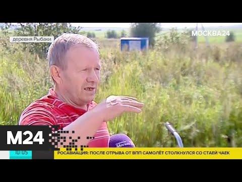 Местный житель рассказал об аварийной посадки Airbus А321 - Москва 24
