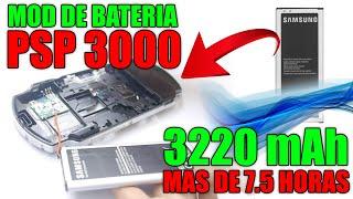MOD DE BATERIA DE PSP, detallado 3220mAh 7 horas