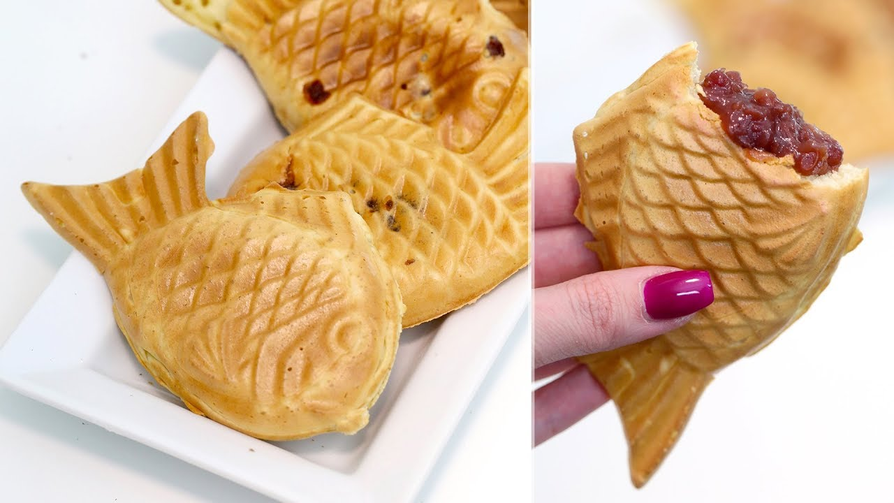 How To Make Taiyaki Japanese Fish Pancakes With Red Bean Filling