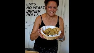 Emi's  No Yeast Dinner Rolls, Quick, Easy, Delicious, Vegan