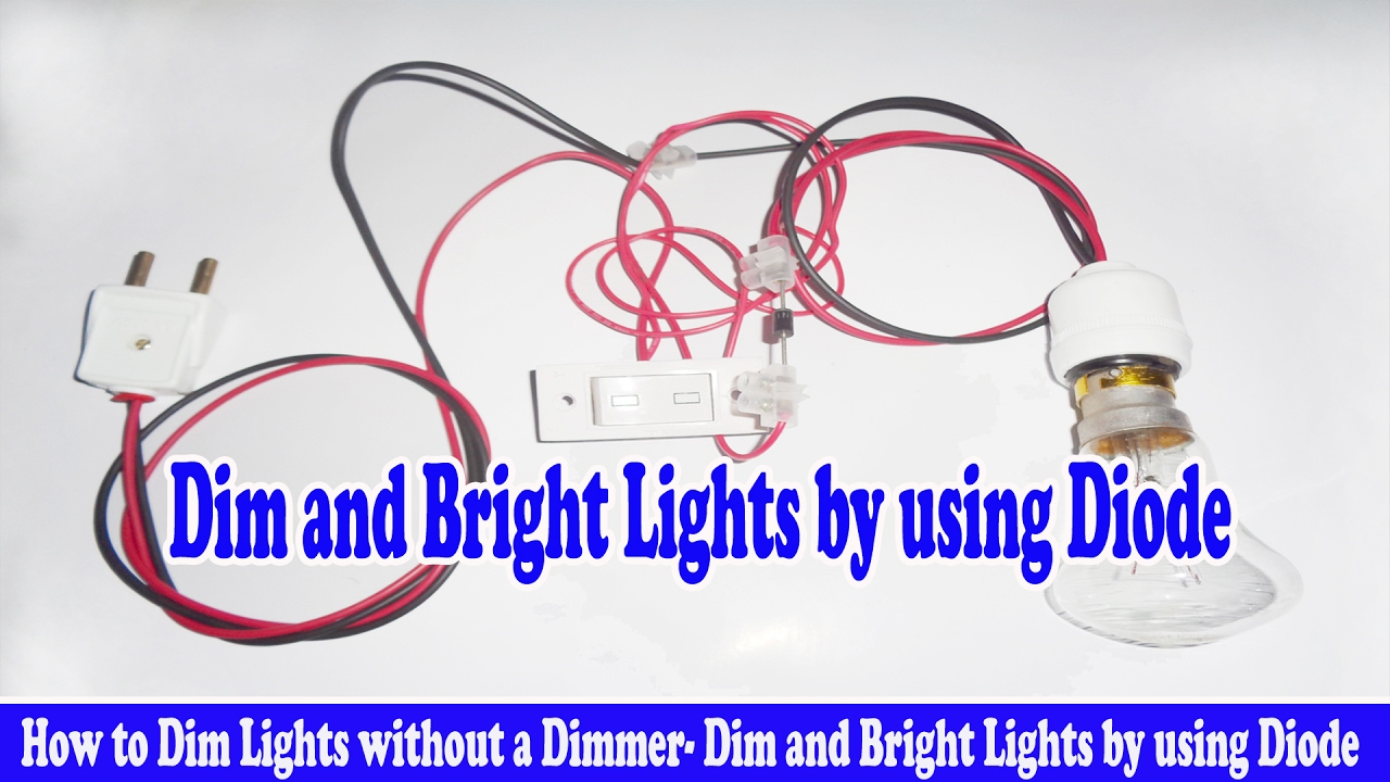 How To Dim Lights Without A Dimmer And Bright By Using Simple Ic 555 Automatic Bedroom Night Lamp Circuit Diagram Image Diode
