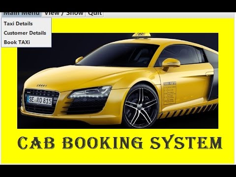 Cab Booking System - CBSE ip Project for Class 12 (Java Netbeans and MySql)