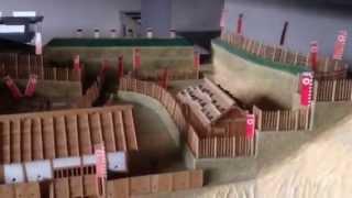 金山城の模型(群馬県太田市)
