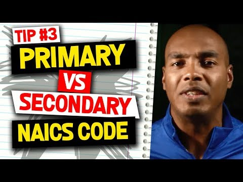 Primary vs Secondary NAICS Code - North American Industry Classification System