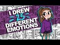 I drew 25 DIFFERENT EXPRESSIONS! Woo! | 25 Expressions Challenge | DrawingWiffWaffles